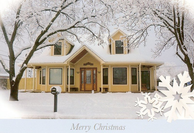 G Coulson-Completed Home as Christmas Card